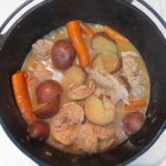 one pot braised boneless chicken thighs with potatoes and carrots