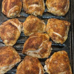 crispy oven baked bone-in chicken thighs recipe